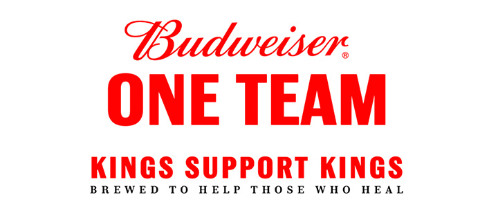 Budweiser - One Team - Kings Support Kings - Brewed to help those who heal